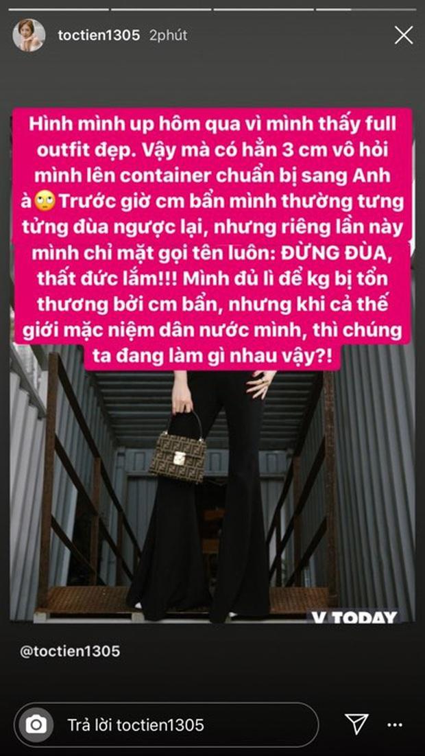 Bị dân mạng trêu đùa người đẹp container giữa lúc vụ án 39 thi thể gây xôn xao, Tóc Tiên đáp trả: Đừng đùa, thất đức lắm! - Ảnh 4.