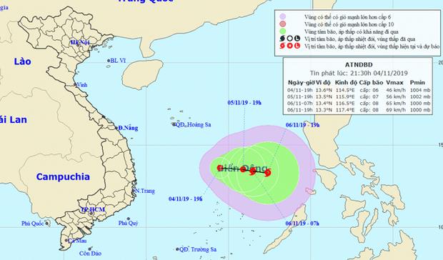 Áp thấp nhiệt đới giữa Biển Đông có khả năng mạnh lên thành bão trong 2 ngày tới - Ảnh 1.