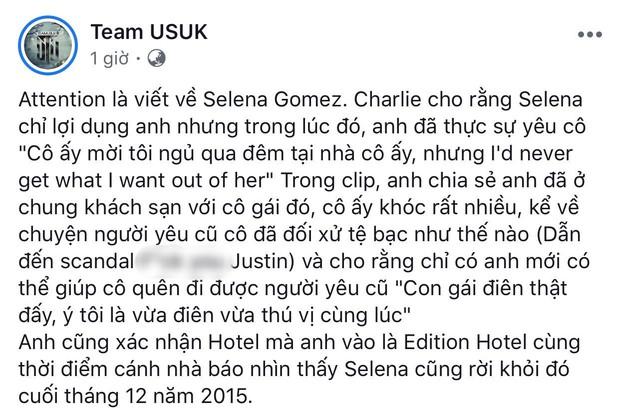 """Náo loạn tin Charlie Puth thừa nhận bị Selena Gomez lợi dụng và rủ qua đêm, ngọn nguồn được tiết lộ trong hit """"Attention""""? - Ảnh 2."""