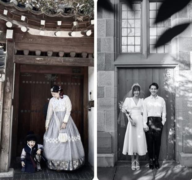 Liên tục vắng mặt Thanh Bình, Ngọc Lan quyết thay chồng thành con trai trong ảnh cưới cover Đông Nhi - Ông Cao Thắng - Ảnh 1.