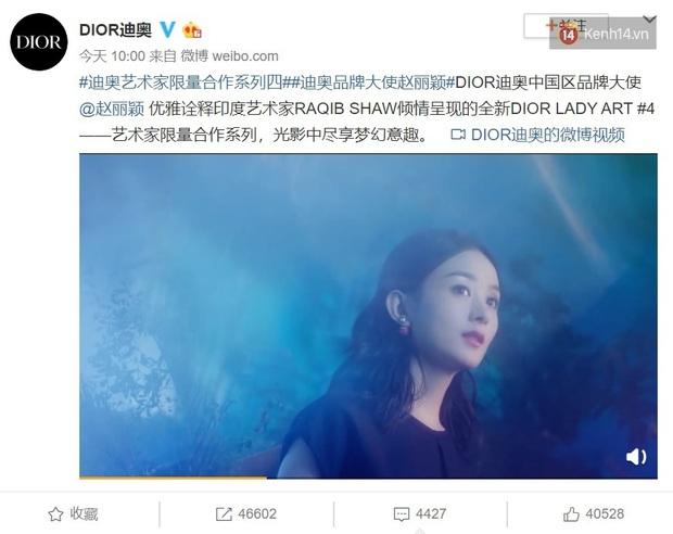 Mặc dân tình xì xầm chê bai, Triệu Lệ Dĩnh một lần nữa khẳng định danh hiệu Đại sứ Dior Trung Quốc chưa hề bị mất - Ảnh 1.