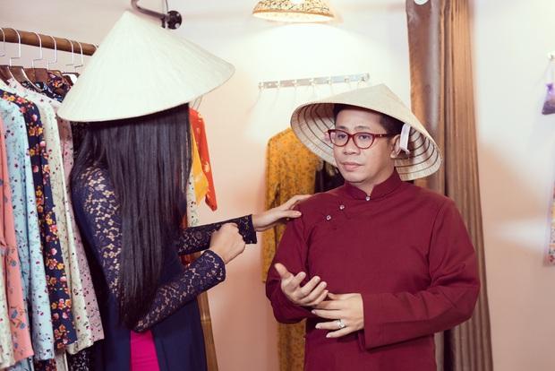 Hoàng Thùy diện áo dài, tự tin giao tiếp bằng tiếng Anh với thầy giáo người Philippines - Ảnh 5.