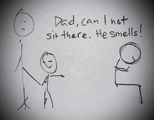 Con trai khinh thường người lao động vì quá hôi hám, không cần đánh đập hay mắng mỏ, chỉ bằng bộ tranh vẽ tay ông bố đã khiến đứa con thay đổi suy nghĩ ngay lập tức - Ảnh 1.