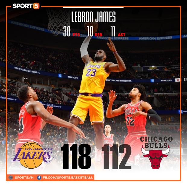 NBA 19-20: Bùng nổ trong hiệp cuối, Los Angeles Lakers ngược dòng đánh bại Chicago Bulls - Ảnh 1.