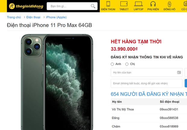 iPhone 11 Pro Max cháy hàng tại Việt Nam dù giá vẫn đang cao top đầu - Ảnh 2.