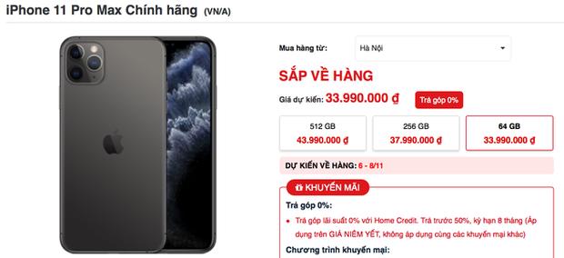 iPhone 11 Pro Max cháy hàng tại Việt Nam dù giá vẫn đang cao top đầu - Ảnh 3.