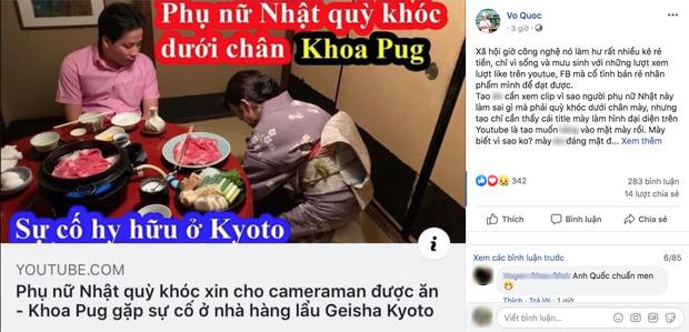 Biến căng: Đầu bếp Võ Quốc mắng mỏ thậm tệ, coi Khoa Pug là kẻ rẻ tiền khi lấy phụ nữ ra giật title câu view cho vlog tại Nhật - Ảnh 1.