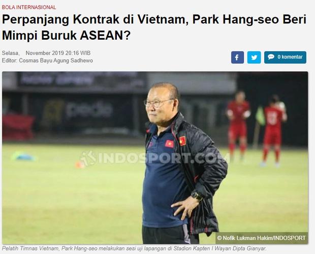 Báo Indonesia: Gia hạn hợp đồng với Việt Nam, HLV Park Hang-seo sẽ đem tới cơn ác mộng cho cả Đông Nam Á - Ảnh 2.