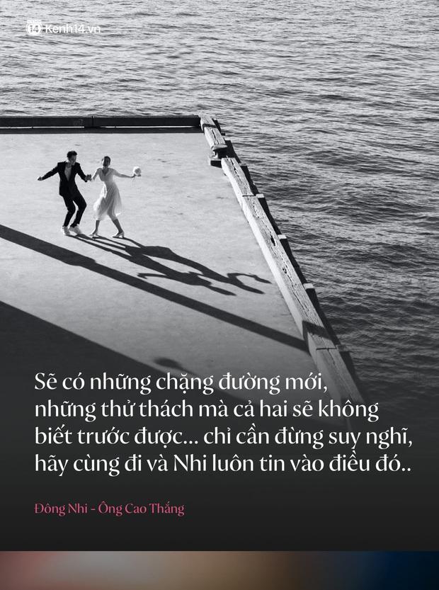 Trước đám cưới, điểm lại những câu nói ngôn tình chứng minh tình yêu ngọt nhất Vbiz của Đông Nhi và Ông Cao Thắng - Ảnh 1.