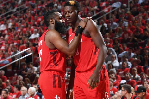 NBA 19-20: James Harden lập Double-double, Houston Rockets nghiền nát Golden State Warriors tại thánh địa Toyota Center - Ảnh 2.