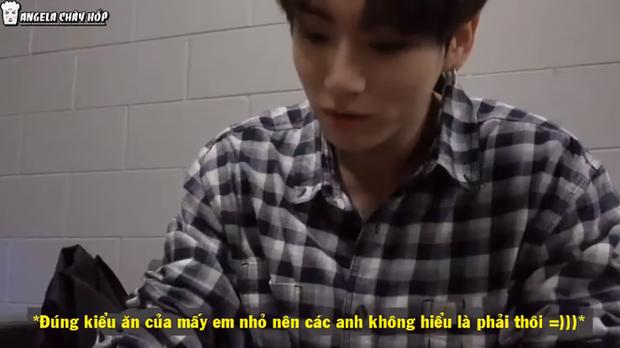 Ai cũng có một đứa bạn như Jungkook: Ăn pizza bỏ vỏ, đến anh cả Jin cũng phải lắc đầu bó tay - Ảnh 4.