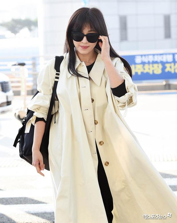 Sân bay Hàn náo loạn vì quân đoàn sao: Hoàng hậu Ki Ha Ji Won sang chảnh sang Việt Nam, NCT và ITZY visual không vừa - Ảnh 4.