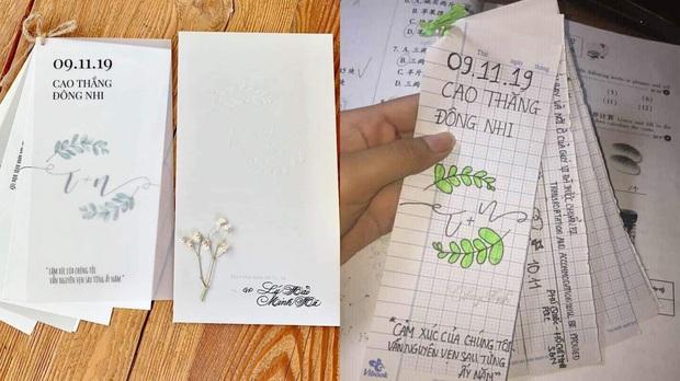 Không được mời đến đám cưới của Đông Nhi - Ông Cao Thắng, học sinh tự thiết kế thiệp đậm chất cây nhà lá vườn nhưng rất có tâm - Ảnh 2.