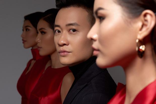 Hoa Hậu Giang Hồ Minh Tú xúng xính váy áo rủ đạo diễn đẹp trai Lương Mạnh Hải chụp bộ ảnh chị chị em em - Ảnh 1.