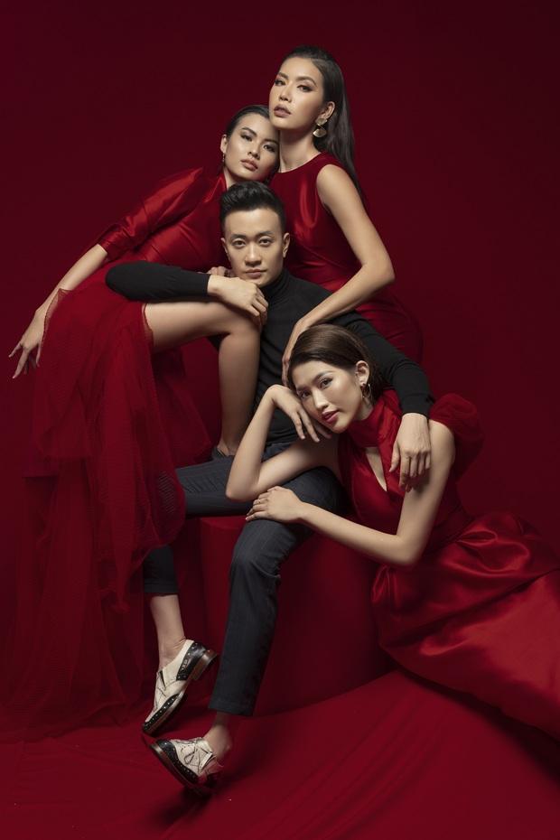 Hoa Hậu Giang Hồ Minh Tú xúng xính váy áo rủ đạo diễn đẹp trai Lương Mạnh Hải chụp bộ ảnh chị chị em em - Ảnh 4.
