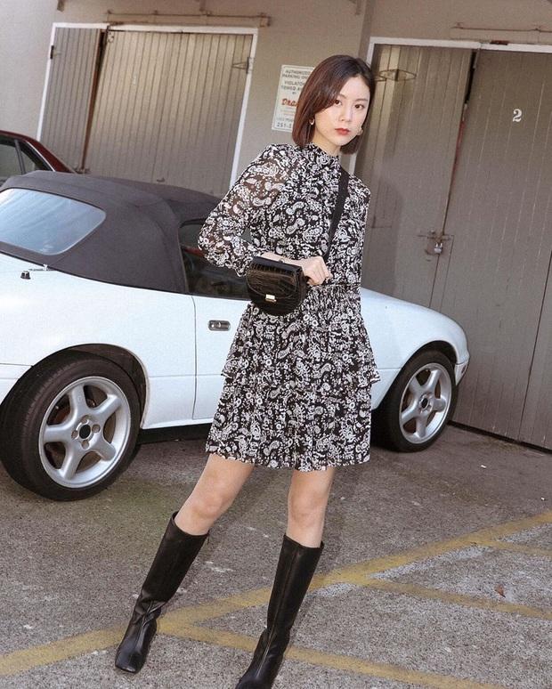 Công thức váy + boots đã thuộc hàng kinh điển, bạn không nên lơ là 3 cách diện chuẩn xinh và tôn dáng sau - Ảnh 10.