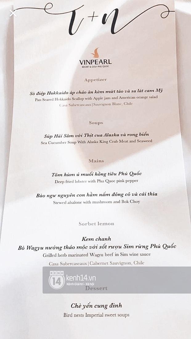 Cận cảnh các món ăn và không gian tiệc cưới sang trọng của Đông Nhi - Ông Cao Thắng: phục vụ chuẩn châu Âu, dàn sao Vbiz check-in ngập MXH - Ảnh 5.
