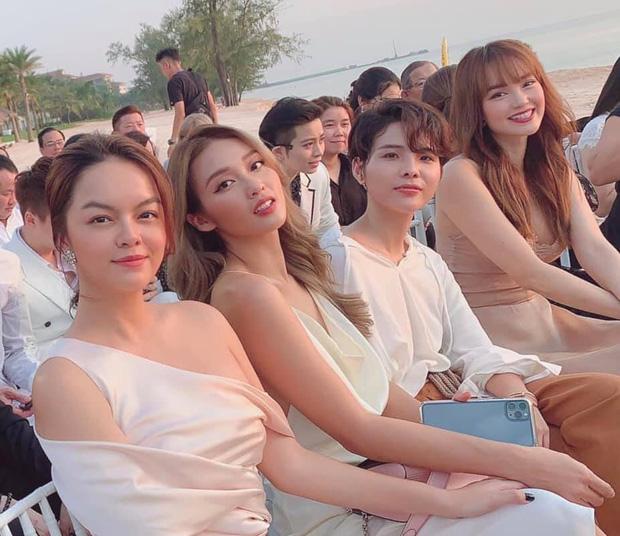Hội chị em đọ sắc ngợp trời cùng khung hình tại đám cưới Đông Nhi - Ông Cao Thắng, Vũ Cát Tường gây bất ngờ nhất - Ảnh 3.