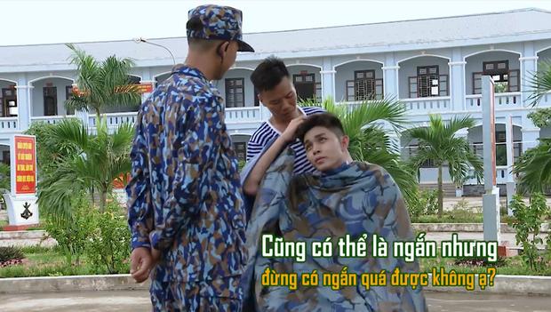 Sao nhập ngũ: Jun Phạm năn nỉ đừng cắt tóc quá ngắn, cân team khi co tay xà đơn - Ảnh 4.