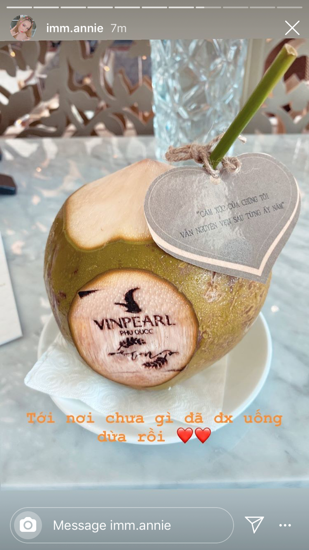 Vừa đặt chân đến Phú Quốc, chưa vội check in nhận phòng, dàn khách mời đi siêu đám cưới lại bình tĩnh ngồi uống... nước dừa - Ảnh 2.