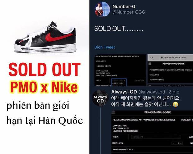 Siêu phẩm Air Force 1 của G-Dragon x Nike: có tới 3 phiên bản, bản giới hạn tại Hàn đã bay màu chỉ trong 1 ngày - Ảnh 4.