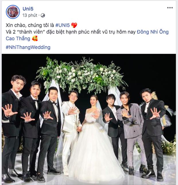 Fan đòi Toki Thành Thỏ trở lại Uni5 khi ngắm nhìn đội hình đầy đủ thành viên trong đám cưới Đông Nhi - Ông Cao Thắng - Ảnh 1.