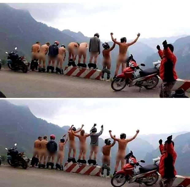 Phẫn nộ nhóm khách du lịch đứng tụt quần khoe vòng ba phản cảm để chụp ảnh check in ở Hà Giang - Ảnh 2.