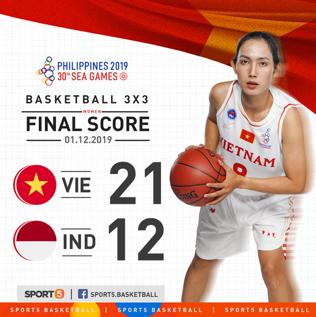 Bóng rổ SEA Games 30: Đội tuyển nữ Việt Nam có chiến thắng đầu tiên sau trận đấu áp đảo trước Indonesia - Ảnh 1.