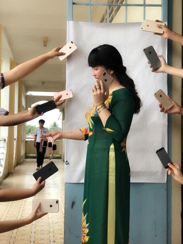 Đu hot trend tone-sur-tone, cô giáo chụp ảnh với loạt iPhone sang chảnh khiến dân mạng được dịp sáng mắt trước độ giàu có của học sinh - Ảnh 1.