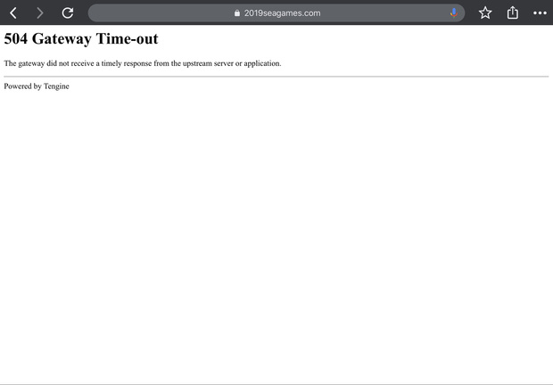 Lại thêm ngán ngẩm Sea Games 30: Website sập lên sập xuống sau khai mạc, mất cả ngày chưa sửa xong - Ảnh 2.