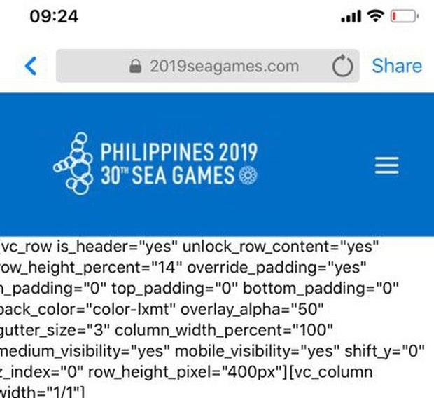 Lại thêm ngán ngẩm Sea Games 30: Website sập lên sập xuống sau khai mạc, mất cả ngày chưa sửa xong - Ảnh 1.