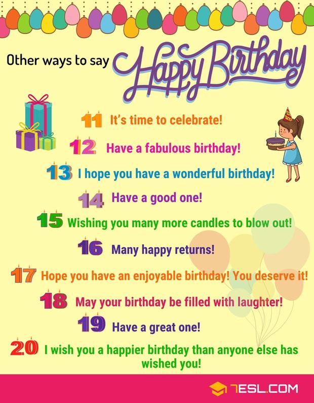 """Đừng nói """"Happy Birthday"""" hoài, hãy thay bằng 24 cụm này khi chúc mừng sinh nhật ai đó bằng Tiếng Anh! - Ảnh 3."""