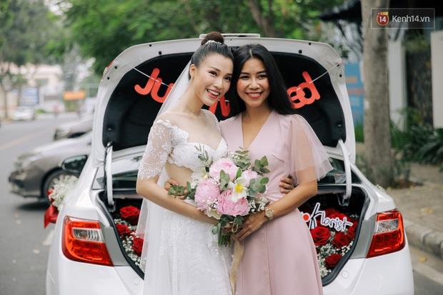 Nhã Phương sánh đôi với Trường Giang, cùng dàn sao Vbiz tới chung vui trong đám cưới Hoàng Oanh - Ảnh 22.