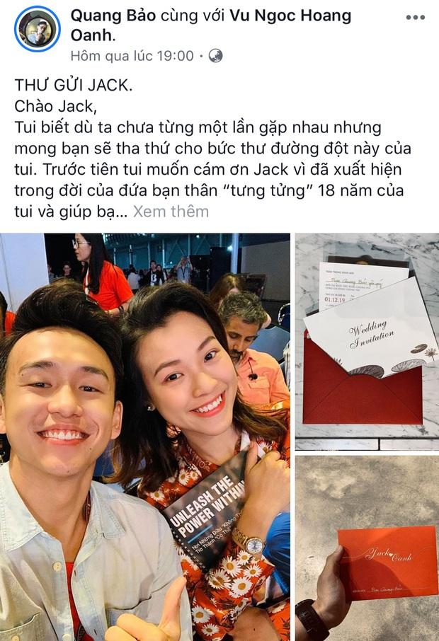 Bức tâm thư gửi chồng Hoàng Oanh hết sức dễ thương của MC Quang Bảo: Thanh xuân nợ chúng ta một cậu bạn thân hết lòng như vậy! - Ảnh 1.