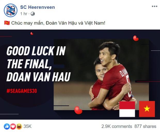 Văn Hậu lập cú đúp, fan Việt lập tức gửi lời đề nghị đến SC Heerenveen: Mau cho hậu vệ xuất sắc nhất Đông Nam Á đá chính đi! - Ảnh 2.