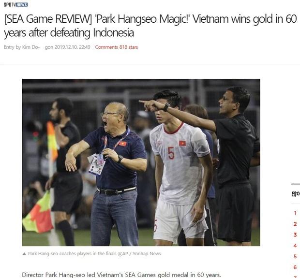 Người Hàn Quốc phát cuồng với chức vô địch SEA Games đầu tiên của Việt Nam, nửa triệu người ùa vào comment chúc mừng - Ảnh 1.
