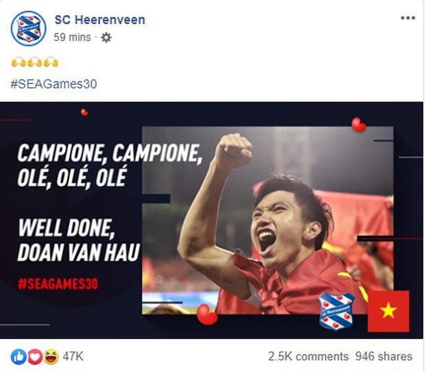 Đội bóng Hà Lan gửi điện mừng Văn Hậu, nhận lại mưa thả tim và hàng ngàn lời cảm ơn của CĐV Việt Nam - Ảnh 2.