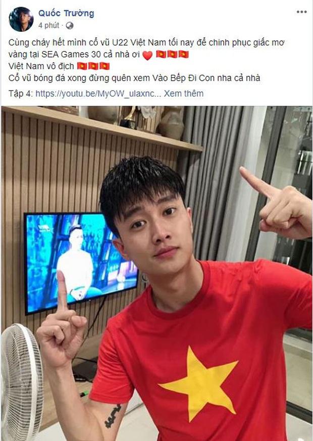 Ưng Hoàng Phúc, Quốc Trường cùng dàn sao Vbiz hừng hực khí thế, trao trọn niềm tin tới ĐT Việt Nam tại chung kết SEA Games 30 - Ảnh 5.