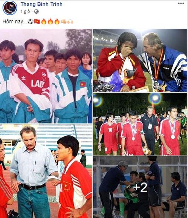 Ưng Hoàng Phúc, Quốc Trường cùng dàn sao Vbiz hừng hực khí thế, trao trọn niềm tin tới ĐT Việt Nam tại chung kết SEA Games 30 - Ảnh 6.