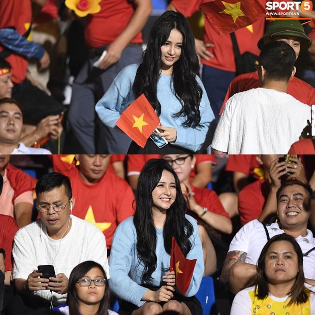 Tìm ra info gái xinh xuất hiện trên khán đài chung kết Việt Nam - Indonesia tại SEA Games 30 - Ảnh 1.