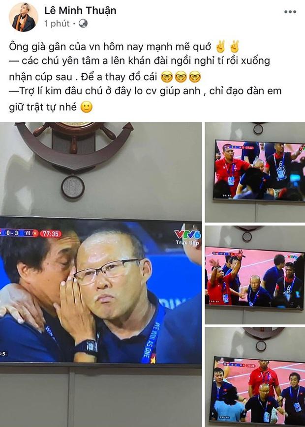 Đông Nhi, Kỳ Duyên cùng dàn sao Vbiz phát cuồng bởi hành động bảo vệ học trò và pha ăn mừng cực đáng yêu của HLV Park Hang-Seo! - Ảnh 7.