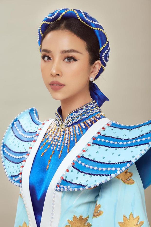 Hé lộ Quốc phục đại bàng sải cánh của Thúy An mang đến Miss Intercontinental, hoà cùng chiến thắng của U22 Việt Nam - Ảnh 1.