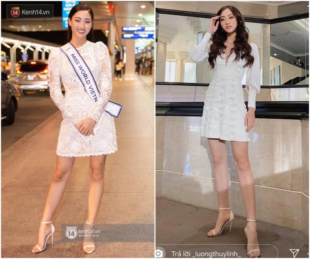Dự Miss World, Lương Thùy Linh thường xuyên diện lại đồ cũ, trái ngược hẳn với cách chơi lớn của Hoàng Thùy tại Miss Universe - Ảnh 4.