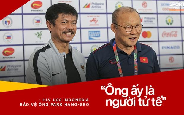 HLV U22 Indonesia bảo vệ ông Park Hang-seo sau tấm thẻ đỏ: Ông ấy là người tử tế - Ảnh 3.