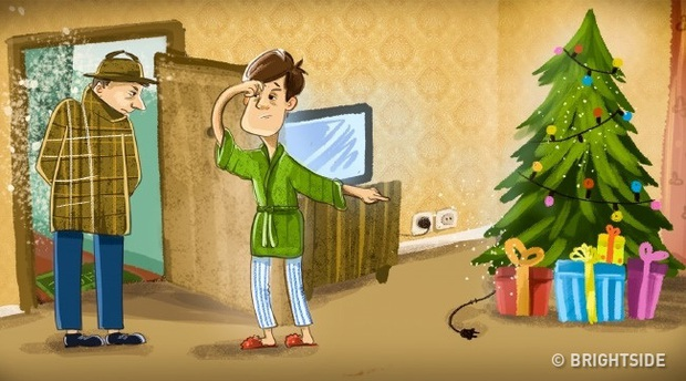 Quiz: Chỉ bằng một chi tiết nhỏ trên cây thông, bạn có phá được vụ án đột nhập vào nhà hàng xóm? - Ảnh 1.
