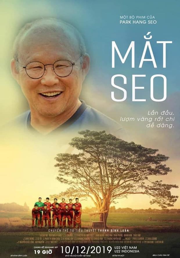 Trò cưng của thầy Park vô địch SEA Games 30, khán giả Mắt Biếc chế vội poster mừng chiến thắng - Ảnh 3.