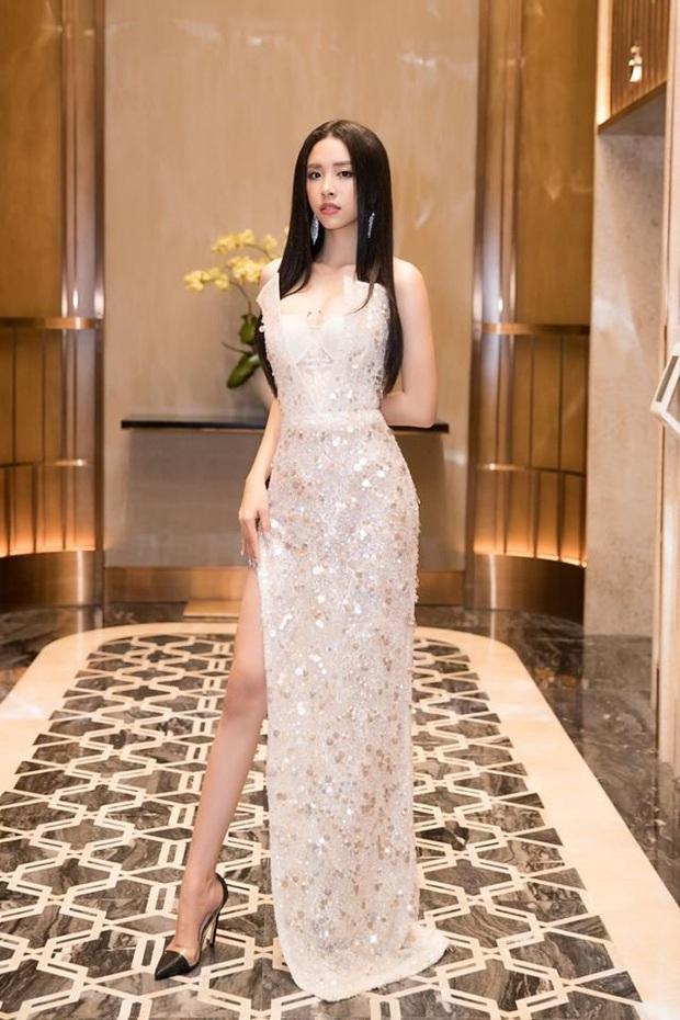 """Diện bộ đầm xẻ cao để đáp trả những nghi ngại về nhan sắc, tân Hoa hậu Khánh Vân """"đụng hàng"""" cả loạt Hoa hậu đàn chị - Ảnh 5."""