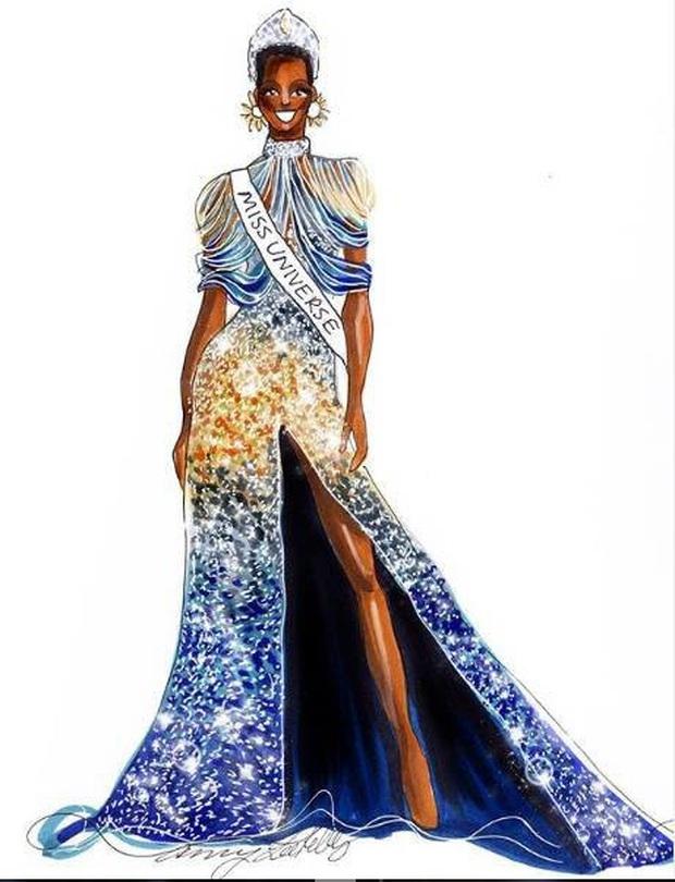 Bật mí chi tiết váy đỉnh cao giúp Zozibini Tunzi che nhược điểm đôi vai để xuất sắc đăng quang Miss Universe 2019 - Ảnh 8.