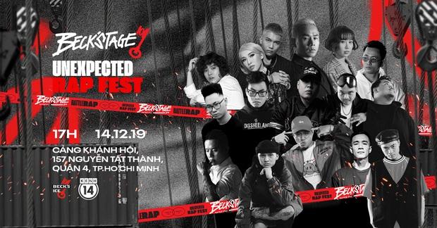 """Những điều đặc biệt ở BeckStage - Unexpected Rap Fest, sự kiện """"hot"""" nhất tháng 12 mà bạn không thể bỏ lỡ! - Ảnh 1."""