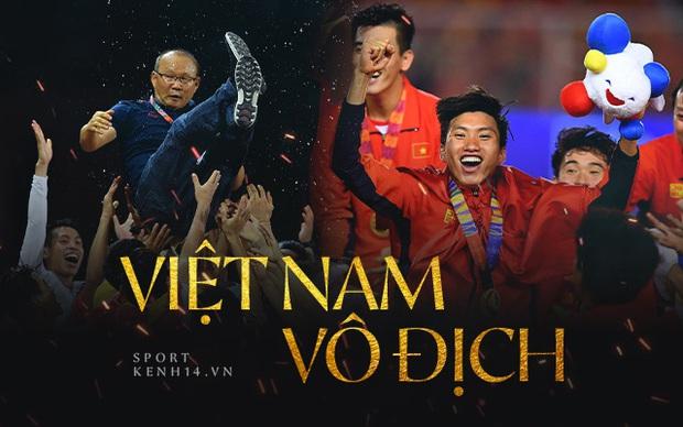 Thắng đậm Indonesia 3-0, Việt Nam lần đầu giành huy chương vàng SEA Games - Ảnh 2.